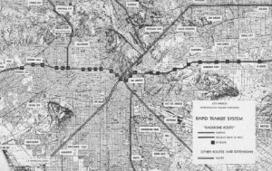 "The ""Backbone Route"" would eventually be supplemented by other corridor routes connecting it to Long Beach, the San Fernando Valley and beyond."