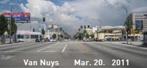Van Nuys Boulevard at Oxnard Street, 2011 (Courtesy of Andres Di Zitti - click to enlarge)